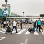 in aeroporto di lima in perù